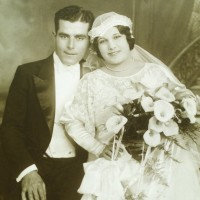 'Mauro and Adelina on Their Wedding Day.'