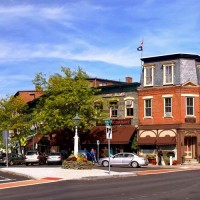 Downtown-Woodstock-Vermont